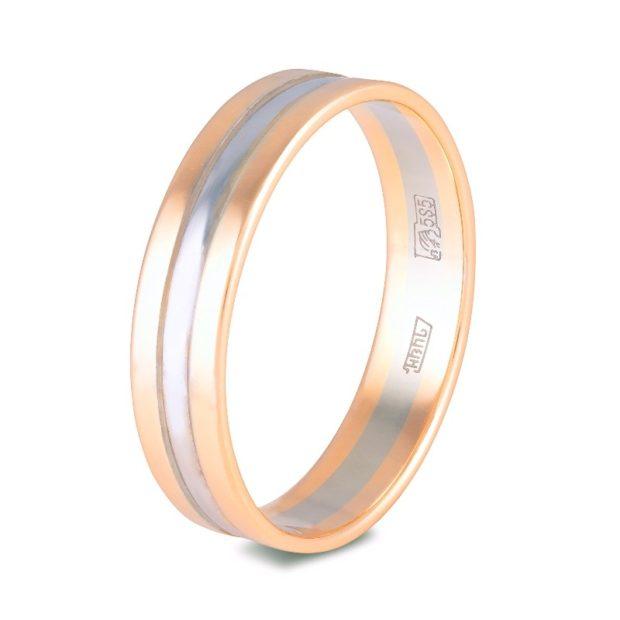 кольца из желтого и белого золота