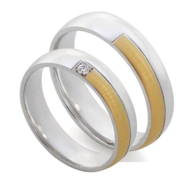 кольца из белого и желтого золота