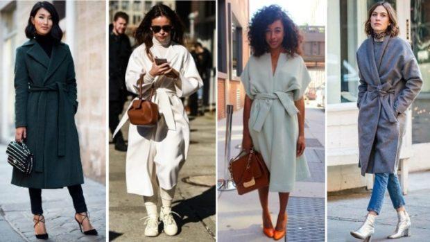 модные женские пальто осень 2021-2022: черное белое серое