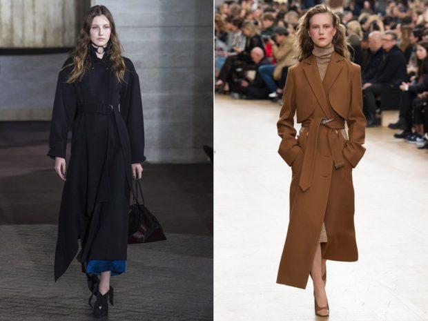 пальто осень-зима 2021-2022: черное и коричневое