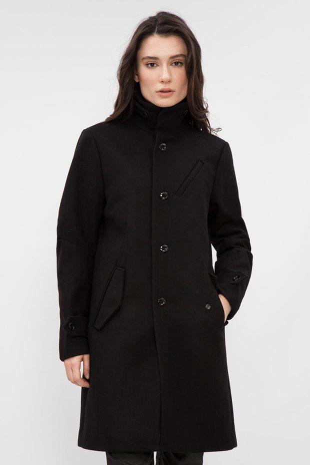 модные пальто осень зима 2019 2020: черное классическое