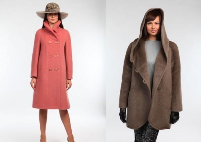 малиновое пальто классическое на пуговицах свободное с капюшоном