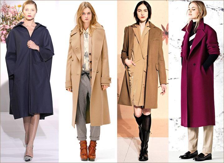 черное пальто,бежевое,фиолетовое
