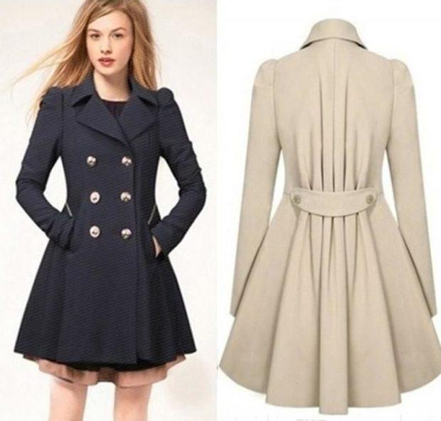 черное пальто белое
