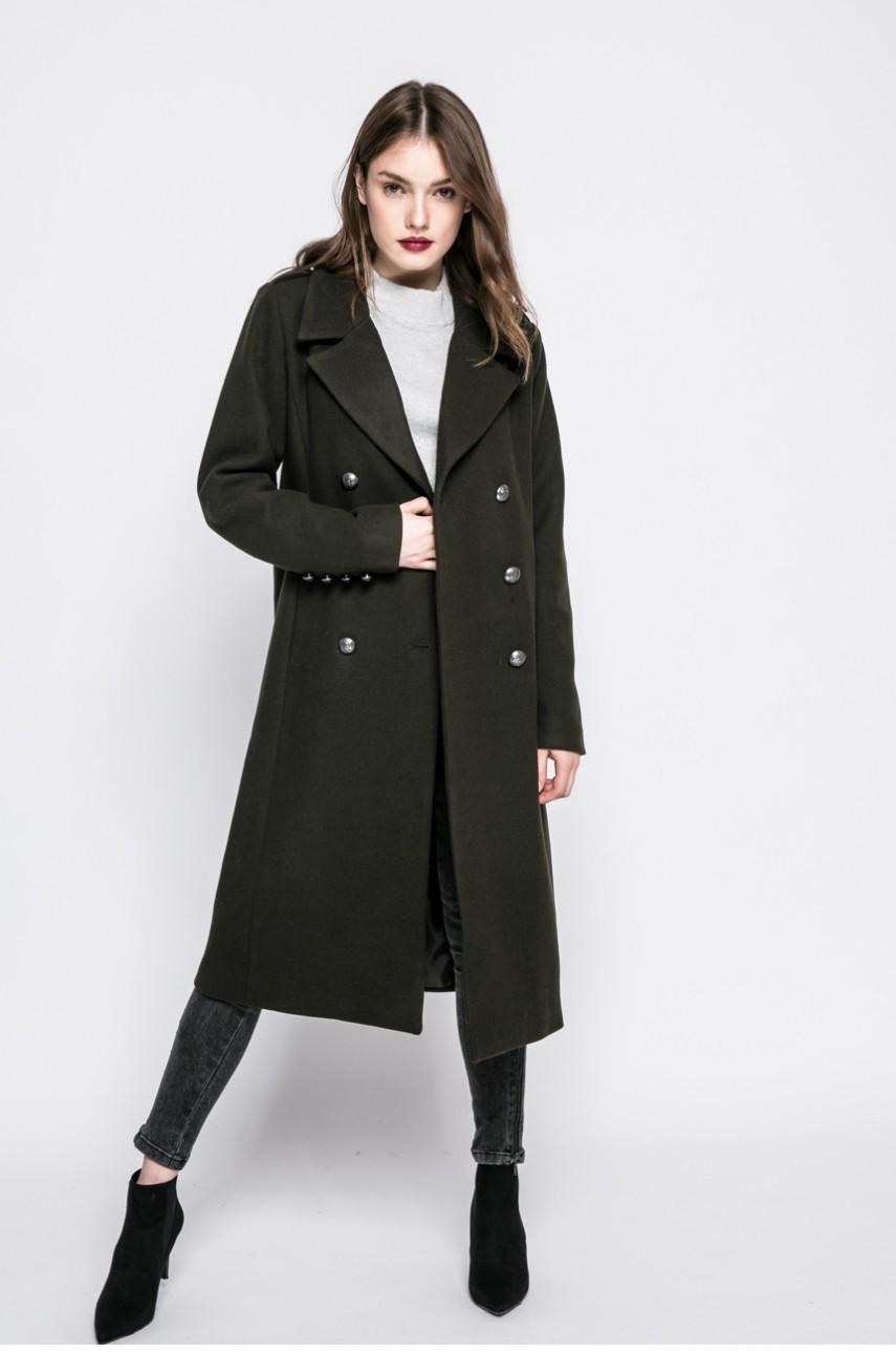 зеленное пальто милитари