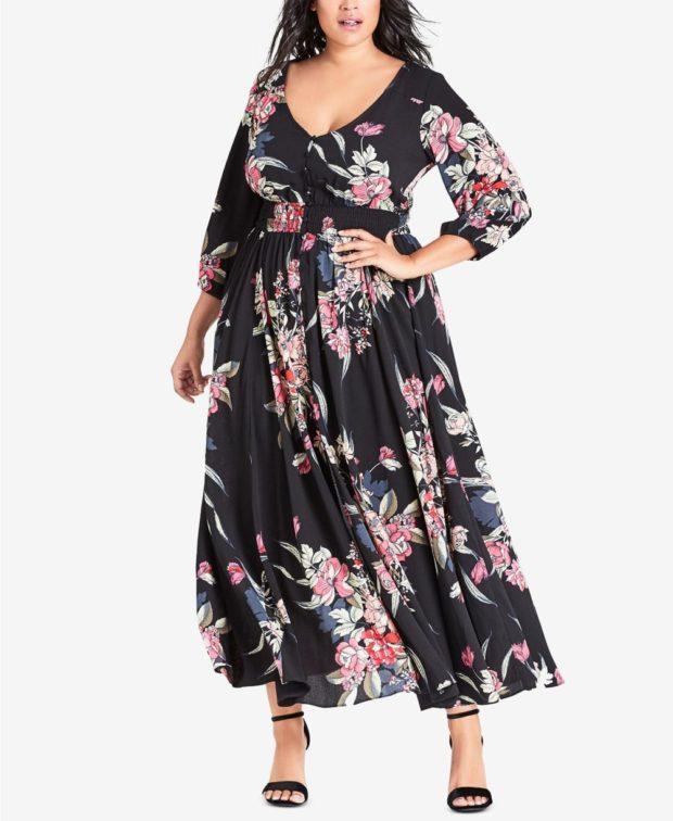 мода лето 2018 одежда для полных