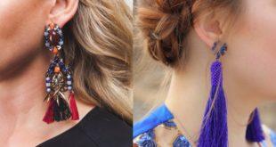 Модные серьги 2019-2020: фото на ушах.