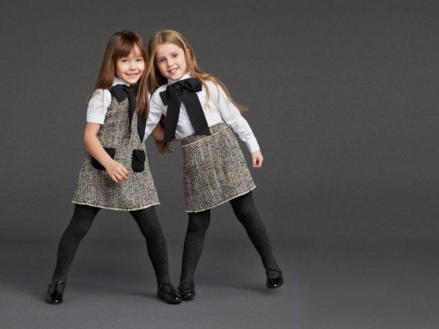 сарафан серый под блузку с коротким рукавом юбка серая