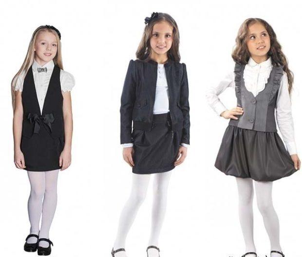сарафан черный с белой блузой комплект жакет и юбка жилетка серая