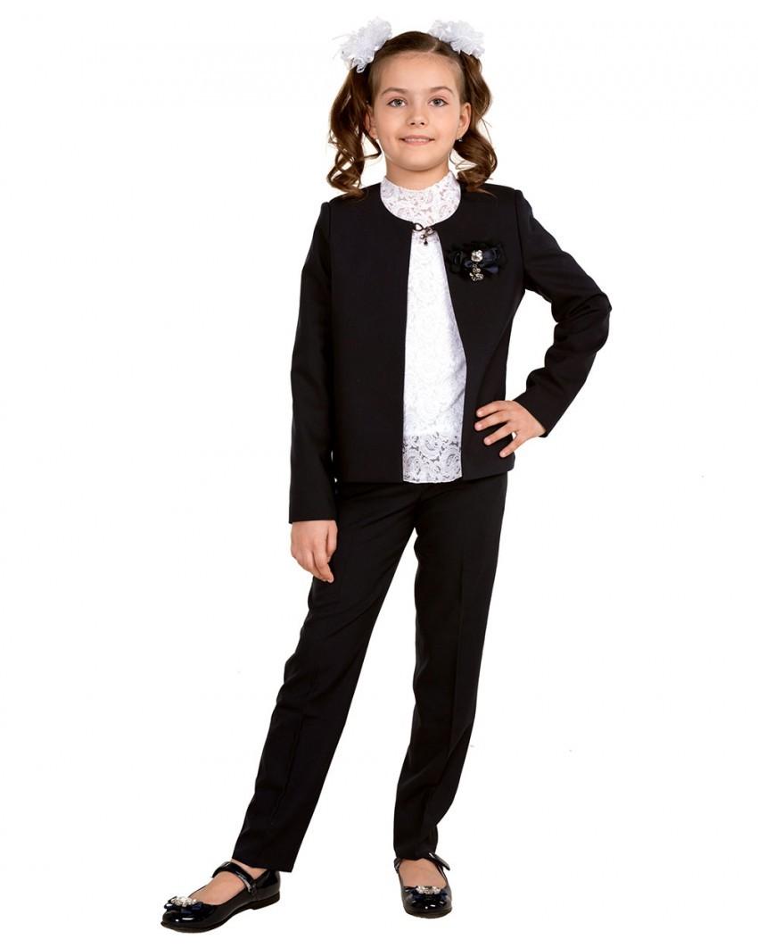 жакет черный брюки черные под блузку белую