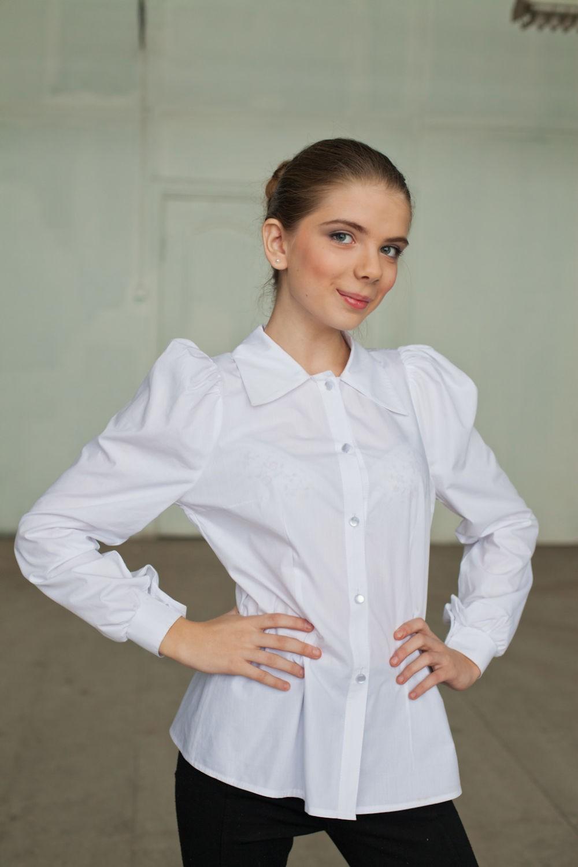 блузка белая рукав длинный
