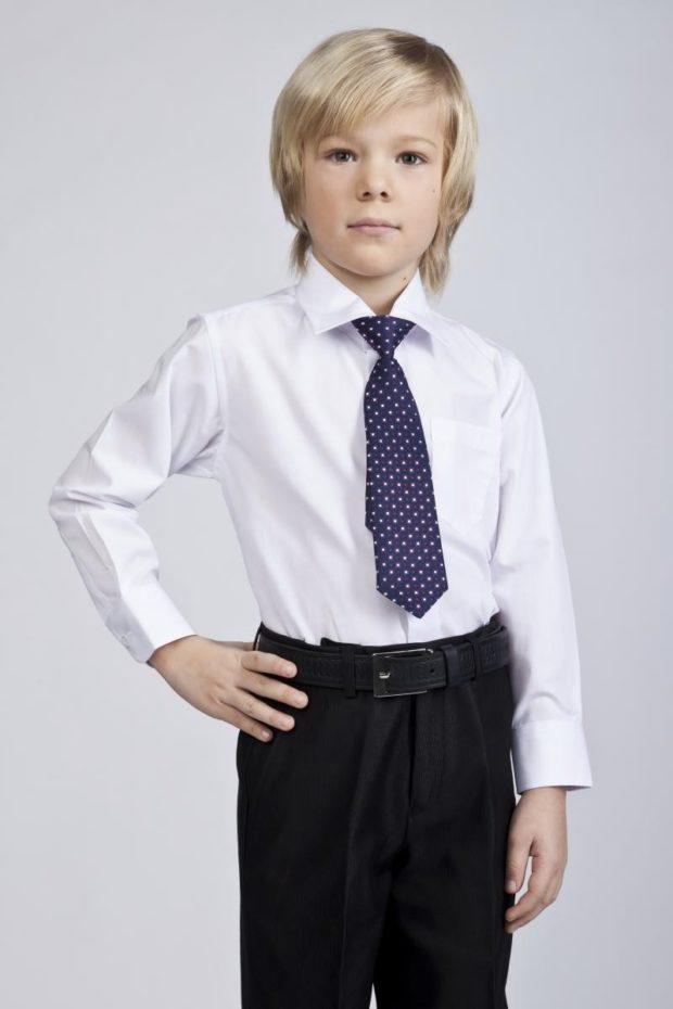 рубашка белая классическая рукав длинный