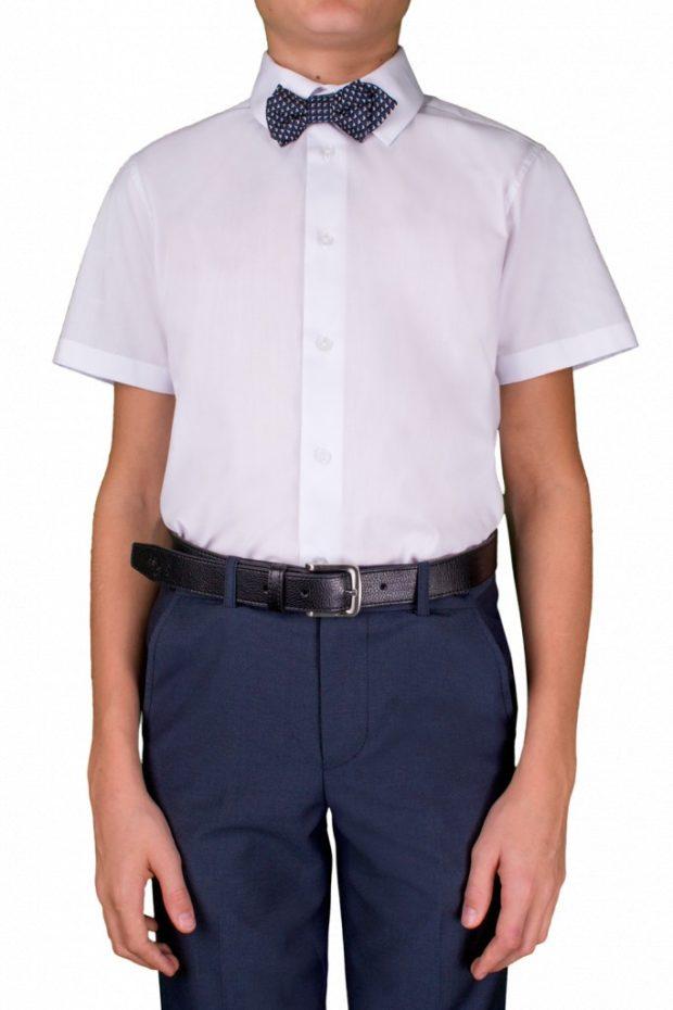 рубашка белая короткие рукава