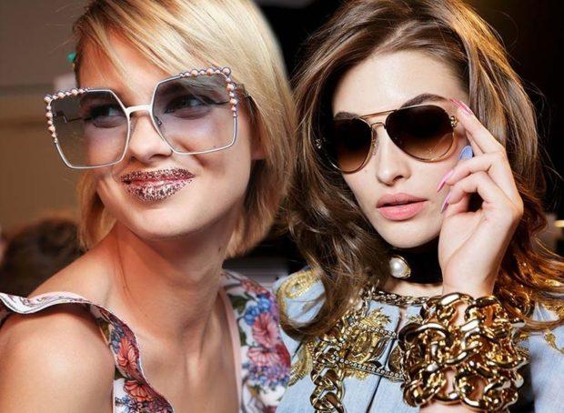 модные солнцезащитные очки 2018 2019 женские: массивные квадратные авиаторы