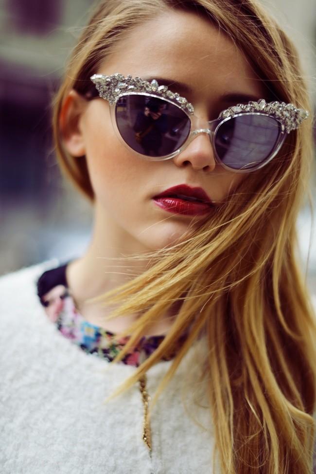 солнцезащитные очки 2018 2019 женские: кошачий глаз хвостик серебристый ажурный