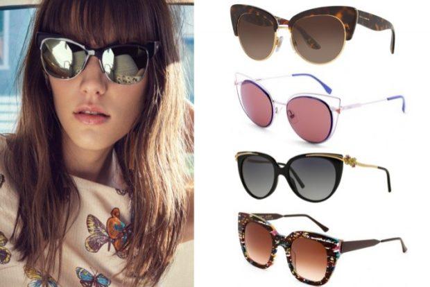 солнцезащитные очки 2018 2019 женские: кошачий глаз коричневые красные черные коричневые