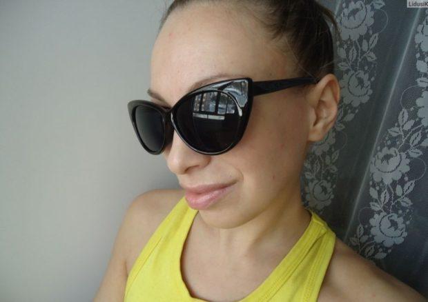 солнцезащитные очки женские 2018 2019: кошачий глаз черные