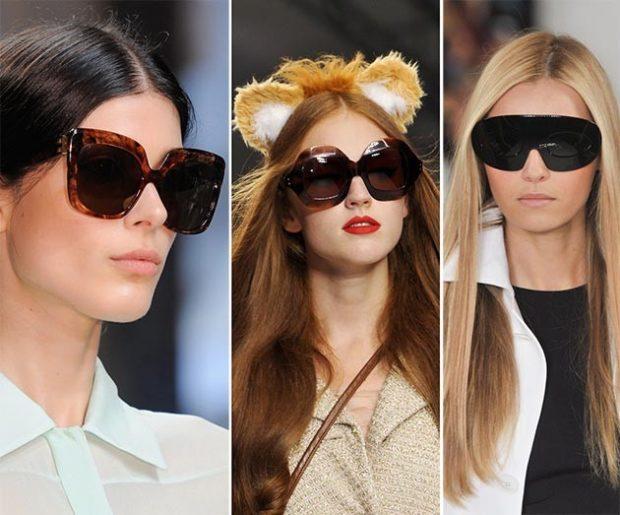 солнцезащитные очки женские 2018 2019: оверсайз объемные коричневые черные