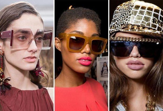 солнцезащитные очки женские 2018 2019: оверсайз массивные квадратные