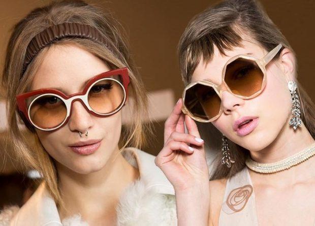 солнцезащитные очки женские 2018 2019: оверсайз оригинальная форма лисы многогранник