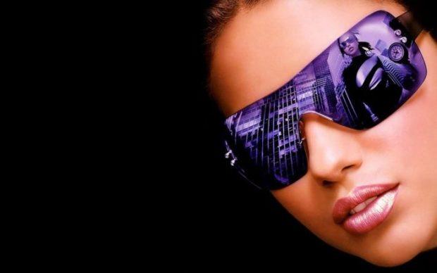 солнцезащитные очки женские 2018 2019: оверсайз фиолетовые массивные
