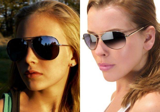 солнечные очки 2018 2019 женские: авиаторы черные омбре