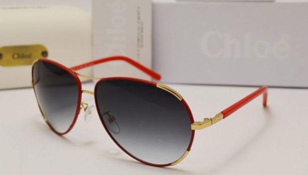 солнечные очки 2018 2019 женские: авиаторы стекло обмре оправа красная