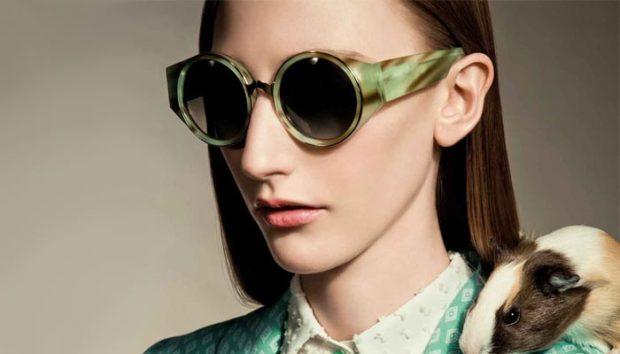 модные солнечные очки 2018 2019 женские: цветная оправа зеленая форма круглая