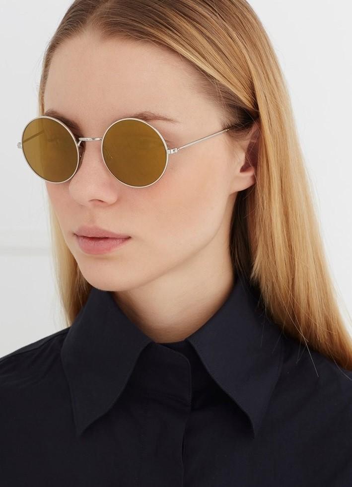 модные солнечные очки 2018 2019 женские: ленноны золотые