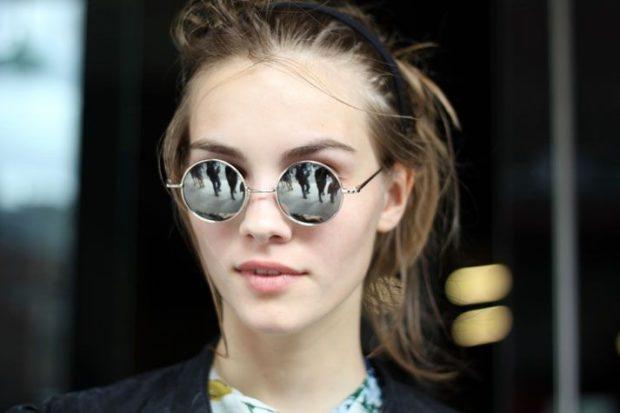 модные солнечные очки 2018 2019 женские: ленноны серебро