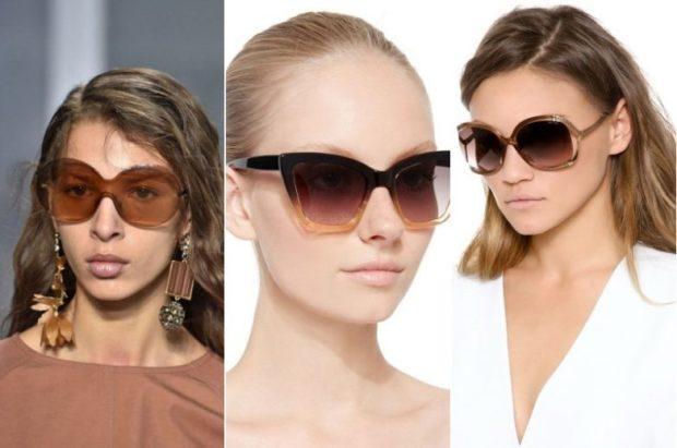 модные солнечные очки 2018 2019 женские: интересные линзы коричневого цвета