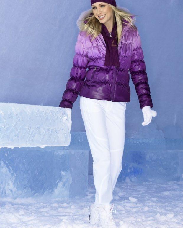 куртка фиолетовая с капюшоном