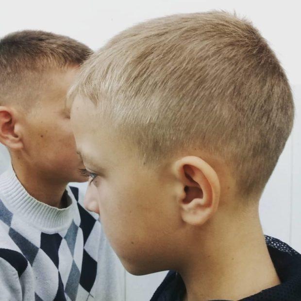 стрижка полубокс бокс для мальчиков