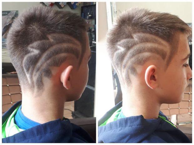 стрижка для мальчика с рисунком