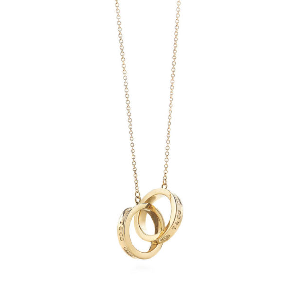 модные ювелирные украшения 2019-2020: цепочка с кулоном TIFFANY