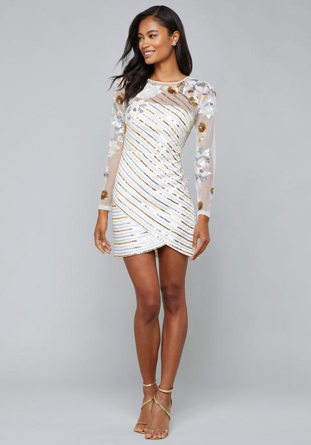 короткие новогодние платья