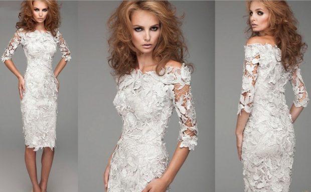 платье по фигуре кружевное