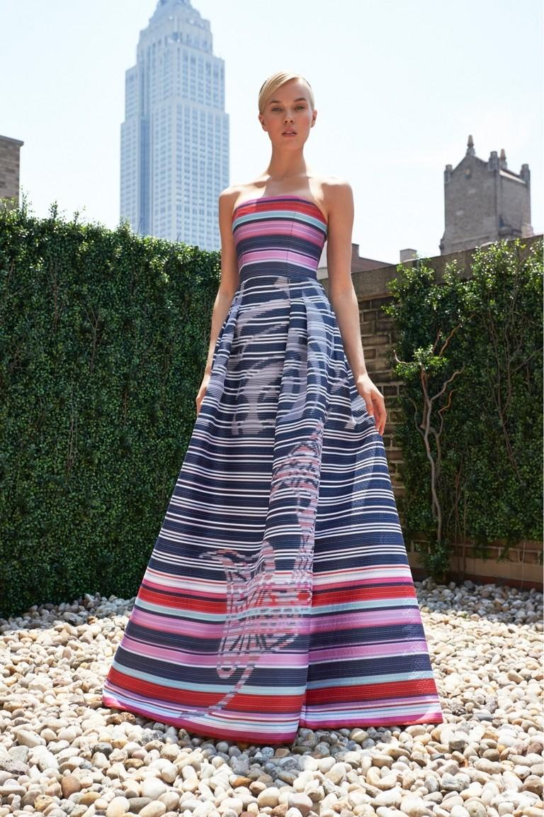 платья с геометрическим рисунком полосы бюстье