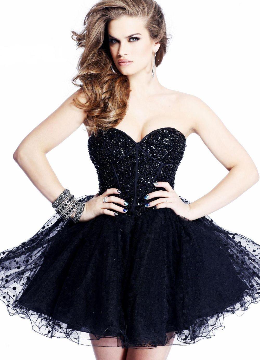платье бюстье черное пышная юбка