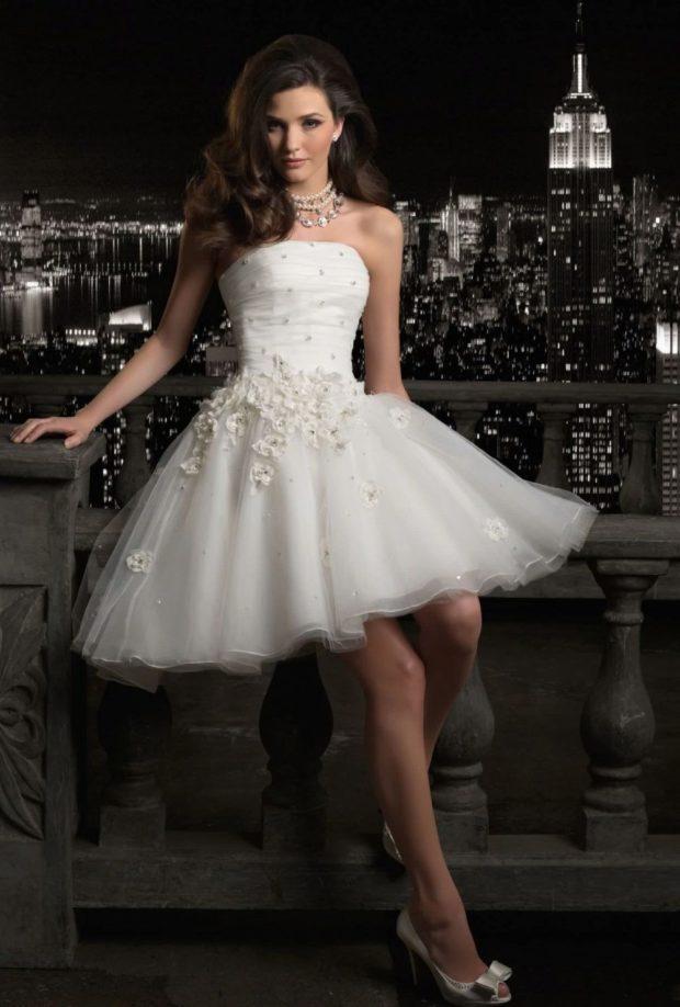 платье пышная юбка бюстье белое