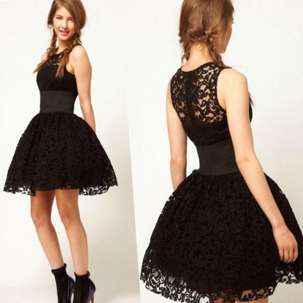 с кружевами пышная юбка