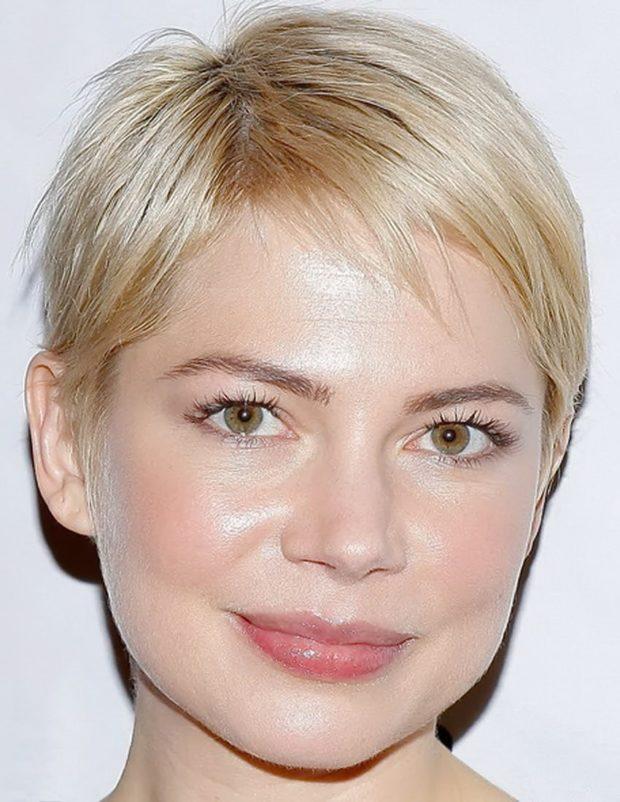женская красивая стрижка на короткие волосы 2018 2019. На круглое лицо