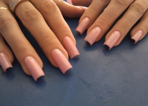 арочное наращивание ногтей гелем фото телесного цвета