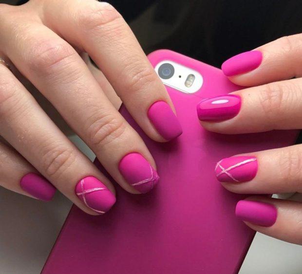 модный маникюр розовый короткий шеллак 2018