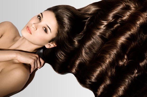 красивые густые волосы коричневые