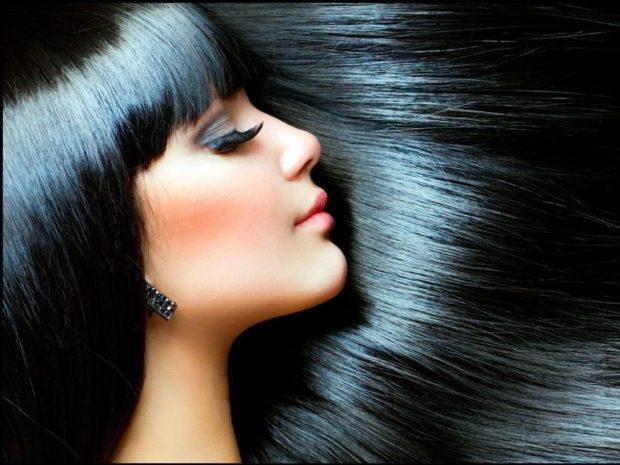 красивые густые волосы черные блестящие