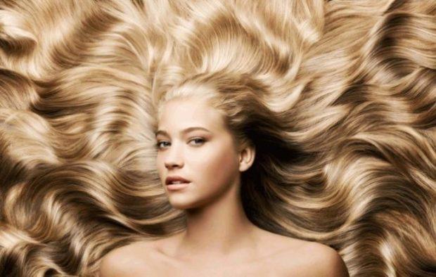 красивые густые волосы белые