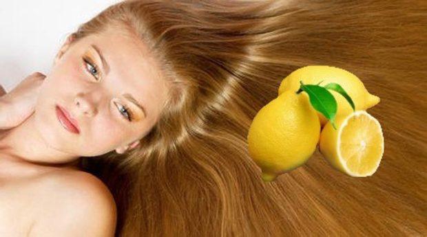 маска для волос лимонная