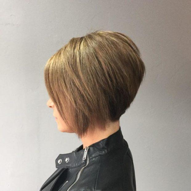 женская стильная стрижка боб затылок состриженный весна лето 2018