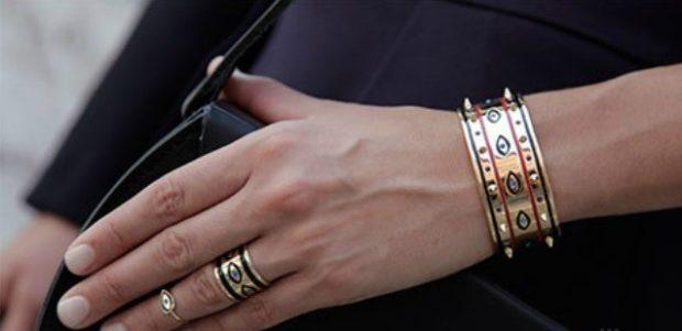 на каком пальце носить кольцо женщине: этническое с орнаментом